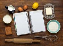 Baking cake in rural kitchen - dough recipe Stock Images