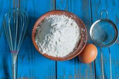 Baking cake in rural kitchen - dough recipe Stock Photo