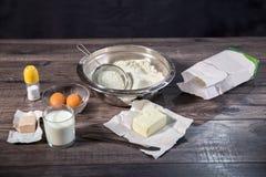 Baking cake in rural kitchen Royalty Free Stock Photo