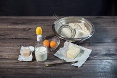 Baking cake in rural kitchen Stock Image