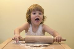 Baking cakes royalty free stock images