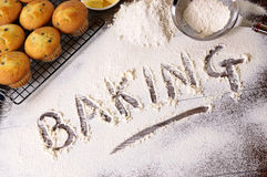 Baking cakes with ingredients Stock Photo