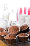 Baking Chocolate Muffins Royalty Free Stock Photos
