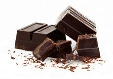 Baking Chocolate On White Stock Images