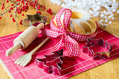 Baking for Christmas Royalty Free Stock Photography