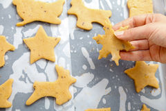 Baking for Christmas Stock Images