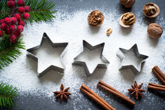Baking christmas background Stock Photos