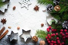 Baking christmas background Royalty Free Stock Photography