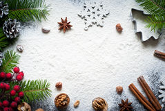 Baking christmas background Stock Image