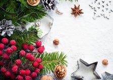 Baking christmas background Stock Image
