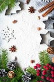 Baking christmas background Stock Photo