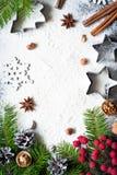 Baking christmas background stock photo