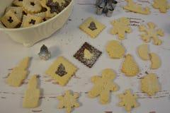 Baking for christmas stock photo