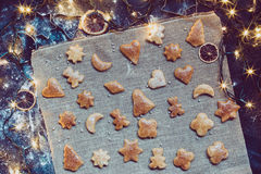 Baking the Christmas cookies Royalty Free Stock Photography