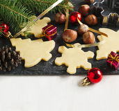 Baking Christmas cookies Stock Image