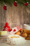 Baking Christmas cookies Royalty Free Stock Photos