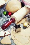 Baking Christmas cookies Stock Photos