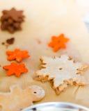 Baking christmas cookies Royalty Free Stock Image