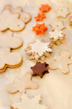 Baking christmas cookies Stock Images