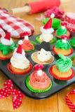 Baking Christmas cupcakes Royalty Free Stock Photo