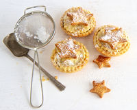 Baking Christmas Mince Pies Stock Photos