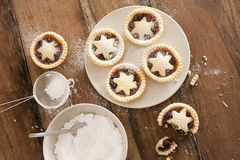 Baking Christmas mince pies Stock Images