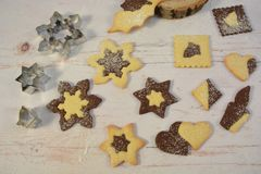 Baking for christmas. It`s family time! stock photography