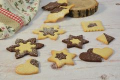 Baking for Christmas. It`s family time! stock image