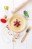 Baking Christmas tart Royalty Free Stock Images