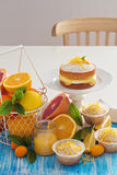 Baking with citrus fruits Royalty Free Stock Image