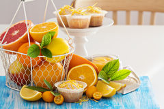 Baking with citrus fruits Royalty Free Stock Photography