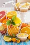 Baking with citrus fruits Stock Photo