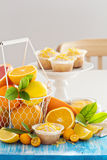 Baking with citrus fruits Stock Photos