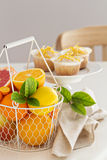 Baking with citrus fruits Stock Images
