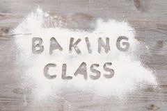 Baking classes poster design stock image