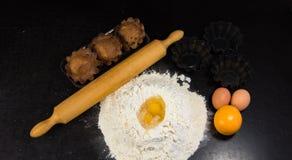 Baking cookie cake Stock Photos