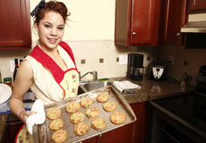 Baking cookies Stock Photography
