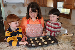 Baking Cookies Royalty Free Stock Images