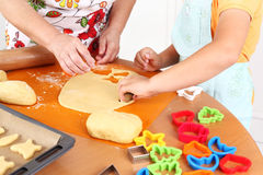 Baking cookies Royalty Free Stock Photo