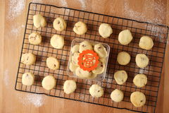 Baking cookies for auspicious reasons Royalty Free Stock Photography