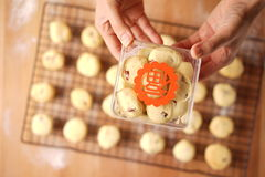Baking cookies for auspicious reasons Royalty Free Stock Images