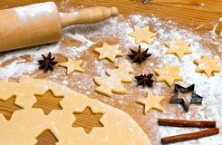 Baking cookies and biscuits for Stock Image