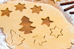 Baking cookies and biscuits for Royalty Free Stock Image