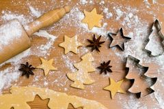 Baking cookies and biscuits for Stock Photography