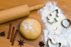Baking cookies and biscuits for Royalty Free Stock Photography