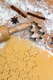 Baking cookies and biscuits for Royalty Free Stock Photos