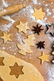 Baking cookies and biscuits for Royalty Free Stock Images