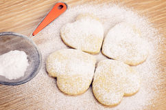 Baking cookies and biscuits Royalty Free Stock Photography