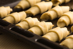 Baking cookies. Baking traditional east cookies with ground nuts Royalty Free Stock Photography