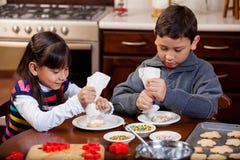 Baking cookies at home Royalty Free Stock Photos